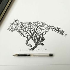 ILLUSTRATION Pen & Ink Depictions of Trees Sprouting into Animals by Alfred Bashaby Christopher Jobson on July 15