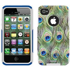 Peacock Feather Animal Prints design on OtterBox® Commuter Series® Case for iPhone 4 / 4S in Black $47.95