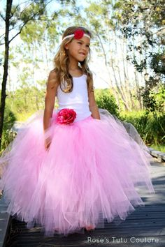 Tutus for Girls, Candy Pink, Custom Made Tutu, Photo Prop, 2-8yrs, Wedding Dress, Tutu Dress