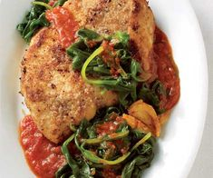 Chicken spinach parmesan  Low-Fat Chicken Recipes | Women's Health Magazine