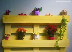 DIY – Floreira feita com pallets | Transformando pallets em móveis #2