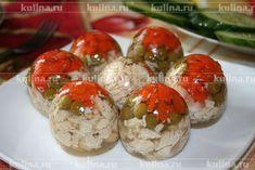 Заливное из курицы в яйцах - рецепт с фото