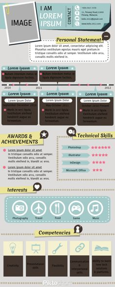 resume but its an infograhpic