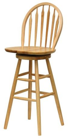 Winsome Wood 30-Inch Windsor Swivel Seat Bar Stool, Natural