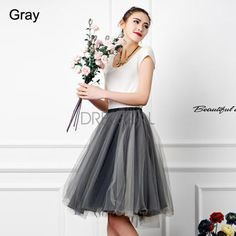 European Style New Fashion Lady Women Leisure Street Above Knee Mesh Skirt_Skirts_Women_Women's Fashion Zone & Best Price Clothes