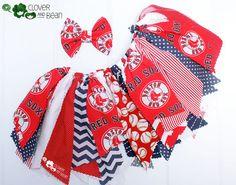 Boston Red Sox Tutu Boston Red Sox Skirt by Cloverandbeantutus.com