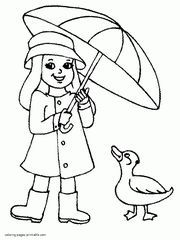 Spring clothes coloring pages for kids