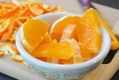 """""""If you finely chop citrus rinds and sprinkle them on the mulch in your garden, they keep neighborhood cats, dogs and other critters away from your veggies. I guess animals don't like the smell of the orange oil. I've been using this method in the front garden and it's working."""""""