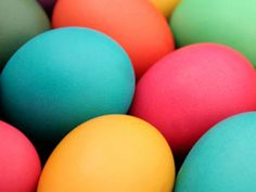 Colored Eggs ~ food colour dye basics.