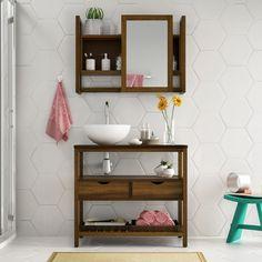 Gosta de um #banheiro com um toque #rústico? Este conjunto de banheiro é perfeito para a #decoração! <3 #decoração #design #madeiramadeira