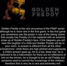 Golden Freddy - He also doesn't attack you. (Once again, I didn't make this.)