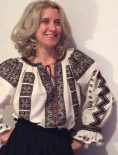 Hand Embroidery, Christmas Sweaters, Textiles, Costumes, Romania, Folk, Shirts, Traditional, Facebook