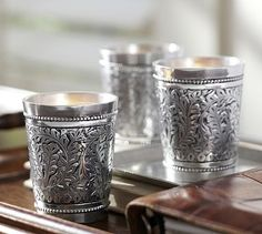 Embossed Silver Votive Holder, Set of 3 #potterybarn