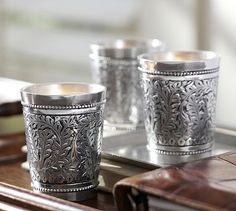 Embossed Silver Votive Holder, Set of 3 #potterybarn