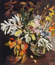Banksias and autumn leaves 2014, oil on linen, 135 x 115 cm WEB Laura Jones