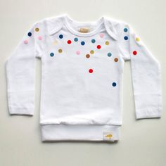 confetti shirt - would be easy with fabric paint and a round sponge