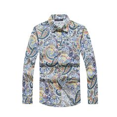 >> Click to Buy << Casual Hawaiian Shirt Men Long Sleeve Shirts Print Blouse Man Brand Beach Clothing Fancy Flower Camisa Estampada Overhemd Summer #Affiliate