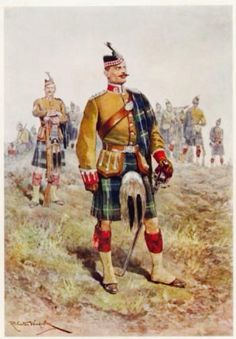 British; The King's (Liverpool Scottish) 10th (Highland) Regiment by R.Canton Wodville