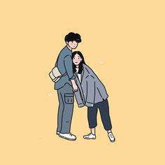 Cute Couple Drawings, Cute Couple Cartoon, Cute Couple Art, Cute Love Cartoons, Cute Drawings, Pencil Drawings, Cute Art Styles, Cartoon Art Styles, Cute Couple Wallpaper