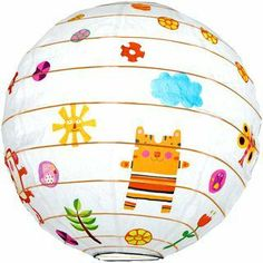 Friends of the Amazon Lantern by Djeco. $9.99. This charming decorative paper lantern of whimsical animals will liven up your child's room.      ⋅ Indoor use only   ⋅ Max 60w bulb