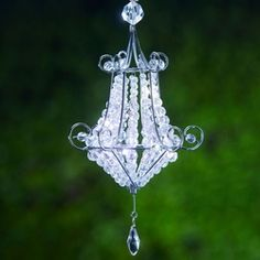 Mini Battery Powered Chandelier. Perfect for a  romantic light inside your tent.