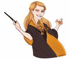 Penny Haywood from Hogwarts Mystery, Harry Potter Anime, Harry Potter Drawings, Harry Potter Fan Art, Harry Potter Universal, Harry Potter Fandom, Harry Potter Hogwarts, Harry Potter World, Ginny Weasley, Sirius Black
