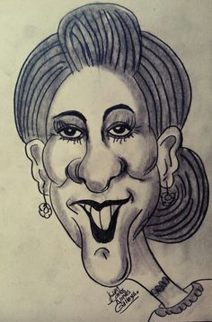 Woman caricature