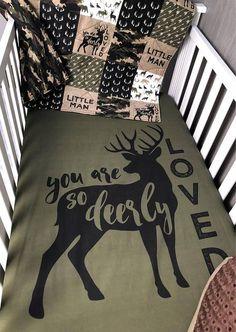 Baby Nursery Bedding Set Baby Woodland Dear Moose Baby Set, Baby Baby, Baby Crib, Baby Boy Rooms, Baby Boy Nurseries, Rustic Baby Nurseries, Room Baby, Baby Nursery Bedding, Camo Nursery