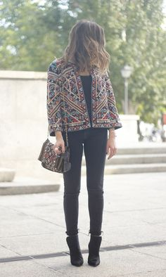 Jacket With Embroidery | BeSugarandSpice - Fashion Blog