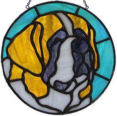stained glass saint bernard patterns   St. Bernard Sun Catcher