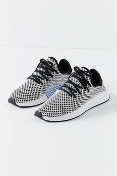 brand new 434d6 3c4a3 adidas Originals Deerupt Black and White Running Trainers Dress Shoes, Shoes  Sandals, Shoe Boots