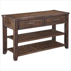 Broyhill Attic Retreat Sofa Table in Weathered-mink - 4990-009 - Lowest price online on all Broyhill Attic Retreat Sofa Table in Weathered-mink - 4990-009