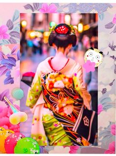 Kimono back style & Egaodarumasan♡https://store.line.me/stickershop/product/1041166/ja