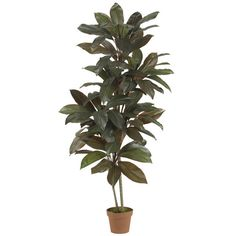 Nearly Natural Cordyline Silk Floor Plant in Pot