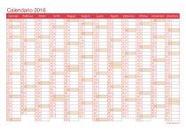 Calendario 2016 - cherry