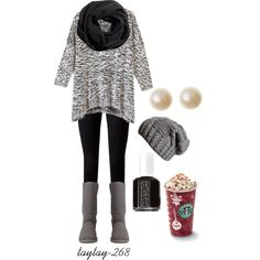 comfy winter grey by taytay-268 on Polyvore featuring Vince, UGG Australia, H&M and Essie