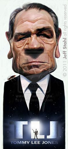 Tommy Lee Jones, by Jeff Stahl by JeffStahl on deviantART