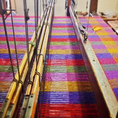 Colourful boucle tweed on the loom today #tweed #colourful #boucle #carnivalboucle #craft #clothing