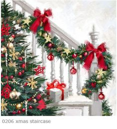 """""""Christmas Staircase"""" by Richard Macneil"""
