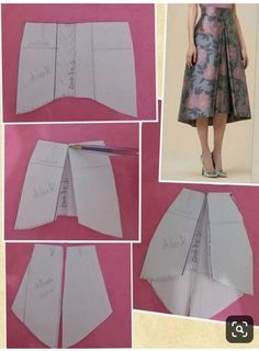 Pattern Drafting Skirt Sewing - Pattern drafting skirt – pattern drafting tutorials, pattern drafting d - Skirt Patterns Sewing, Clothing Patterns, Coat Patterns, Blouse Patterns, Diy Clothing, Sewing Clothes, Barbie Clothes, Fashion Sewing, Diy Fashion