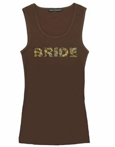 Rhinestone Animal Print Letters Bride Tank Top or Shirt