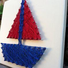 Nautical String Art Sign Anchor String Art by JOCoriginalcreations