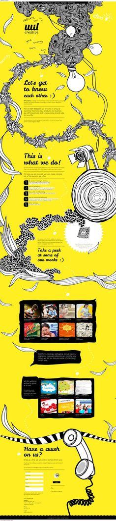 Unique Web Design, Wit Creative (http://www.witcreative.info/) #WebDesign #Design (http://www.pinterest.com/aldenchong/)
