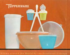 Vintage Tupperware advertisement.  Known around the World by the Freshness It Keeps.