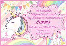 Resultado de imagen para invitaciones de unicornio para editar