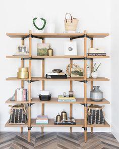 Oak Shelves, Bookcase Shelves, Floating Shelves, Glass Shelves, Bookcases, Bookshelf Room Divider, Bookshelf Plans, Room Divider Curtain, Room Dividers