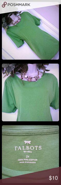 Selling this Talbots / Short Sleeve🍃 Green T-Shirt / 🍃Size 2X on Poshmark! My username is: shopblissfully. #shopmycloset #poshmark #fashion #shopping #style #forsale #Talbots #Tops