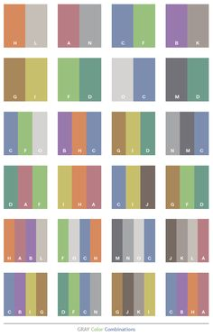 Gray Color Schemes | Gray tone color schemes, color combinations, color palettes.