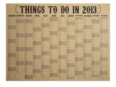 2013 Eco Wall Planner/Study Calendar