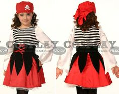 girls pirate costume... I could make this.